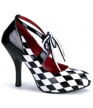 Harlequinn Black and White Checkered Pump Cosplay Costume Closet Halloween Shop Halloween Cosplay Costumes | Kids, Adult & Plus Size Halloween Costumes