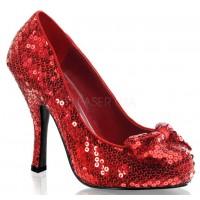 Oz Red Sequin High Heel Pump