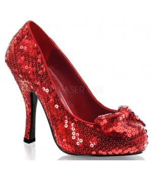 Oz Red Sequin High Heel Pump Cosplay Costume Closet Halloween Costume Shop Halloween Cosplay Costumes | Kids, Adult & Plus Size Halloween Costumes