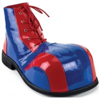 Red and Blue Adult Clown Shoes