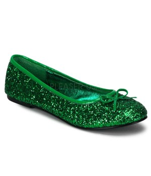 Star Green Glittered Ballet Flat Cosplay Costume Closet Halloween Costume Shop Halloween Cosplay Costumes | Kids, Adult & Plus Size Halloween Costumes