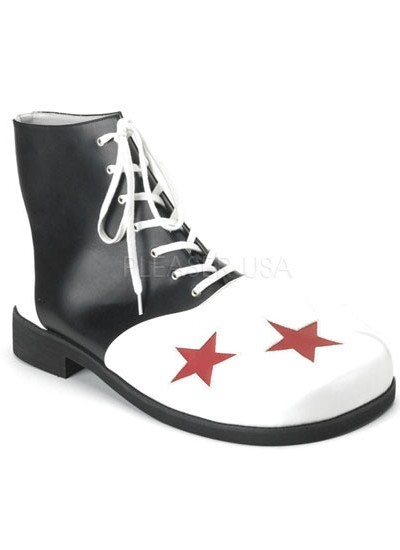 Black and White Clown Shoes at Cosplay Costume Closet Halloween Shop, Halloween Cosplay Costumes | Kids, Adult & Plus Size Halloween Costumes