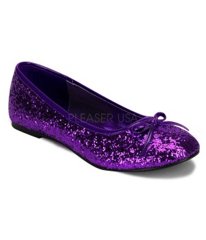 Star Deep Purple Glittered Ballet Flat Cosplay Costume Closet Halloween Costume Shop Halloween Cosplay Costumes | Kids, Adult & Plus Size Halloween Costumes