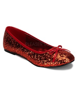 Star Red Glittered Ballet Flat Cosplay Costume Closet Halloween Costume Shop Halloween Cosplay Costumes | Kids, Adult & Plus Size Halloween Costumes