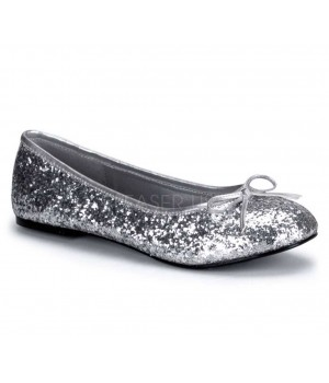 Star Silver Glittered Ballet Flat Cosplay Costume Closet Halloween Costume Shop Halloween Cosplay Costumes | Kids, Adult & Plus Size Halloween Costumes