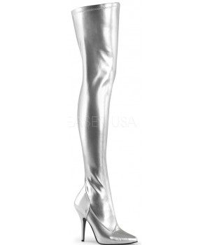 Seduce Silver High Heel Thigh High Boots Cosplay Costume Closet Halloween Costume Shop Halloween Cosplay Costumes | Kids, Adult & Plus Size Halloween Costumes