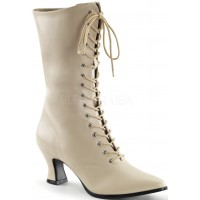 Cream Victorian Ankle Boot