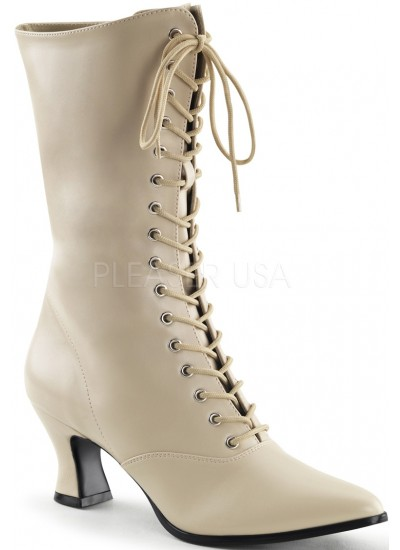 Cream Victorian Ankle Boot at Cosplay Costume Closet Halloween Shop, Halloween Cosplay Costumes | Kids, Adult & Plus Size Halloween Costumes