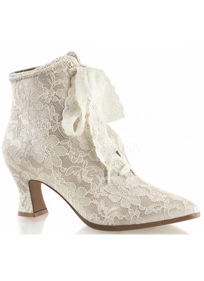 Victorian Jane Champagne Lace Ankle Boot at Cosplay Costume Closet Halloween Shop, Halloween Cosplay Costumes | Kids, Adult & Plus Size Halloween Costumes