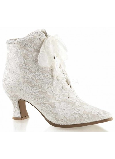 Victorian Jane Ivory Lace Ankle Boot at Cosplay Costume Closet, Halloween Cosplay Costumes | Kids, Adult & Plus Size Halloween Costumes