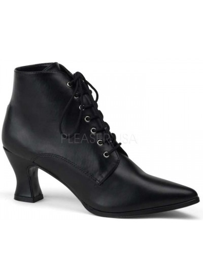 Black Victorian Ankle Bootie at Cosplay Costume Closet Halloween Shop, Halloween Cosplay Costumes | Kids, Adult & Plus Size Halloween Costumes