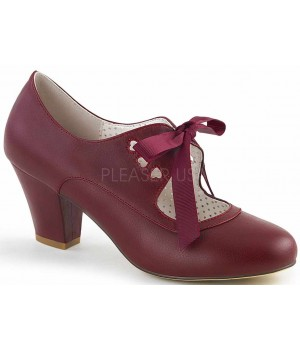 Wiggle Vintage Style Mary Jane Shoe in Burgundy Cosplay Costume Closet Halloween Shop Halloween Cosplay Costumes | Kids, Adult & Plus Size Halloween Costumes