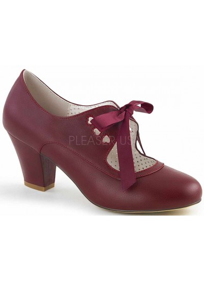 Wiggle Vintage Style Mary Jane Shoe in Burgundy at Cosplay Costume Closet Halloween Shop, Halloween Cosplay Costumes | Kids, Adult & Plus Size Halloween Costumes