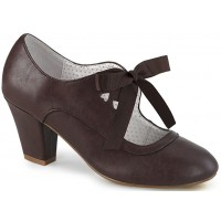 Wiggle Vintage Style Mary Jane Shoe in Dark Brown