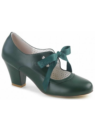 Wiggle Vintage Style Mary Jane Shoe in Forest Green at Cosplay Costume Closet Halloween Shop, Halloween Cosplay Costumes | Kids, Adult & Plus Size Halloween Costumes