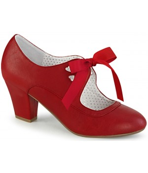 Wiggle Vintage Style Mary Jane Shoe in Red Faux Leather Cosplay Costume Closet Halloween Shop Halloween Cosplay Costumes | Kids, Adult & Plus Size Halloween Costumes