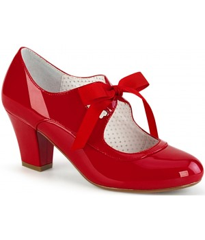 Wiggle Vintage Style Mary Jane Shoe in Red Patent Cosplay Costume Closet Halloween Shop Halloween Cosplay Costumes | Kids, Adult & Plus Size Halloween Costumes