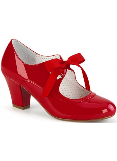 Wiggle Vintage Style Mary Jane Shoe in Red Patent at Cosplay Costume Closet Halloween Shop, Halloween Cosplay Costumes | Kids, Adult & Plus Size Halloween Costumes