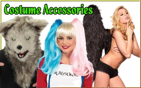 buy halloween cosplay costume accessories wigs, wings, masks, makeup, more