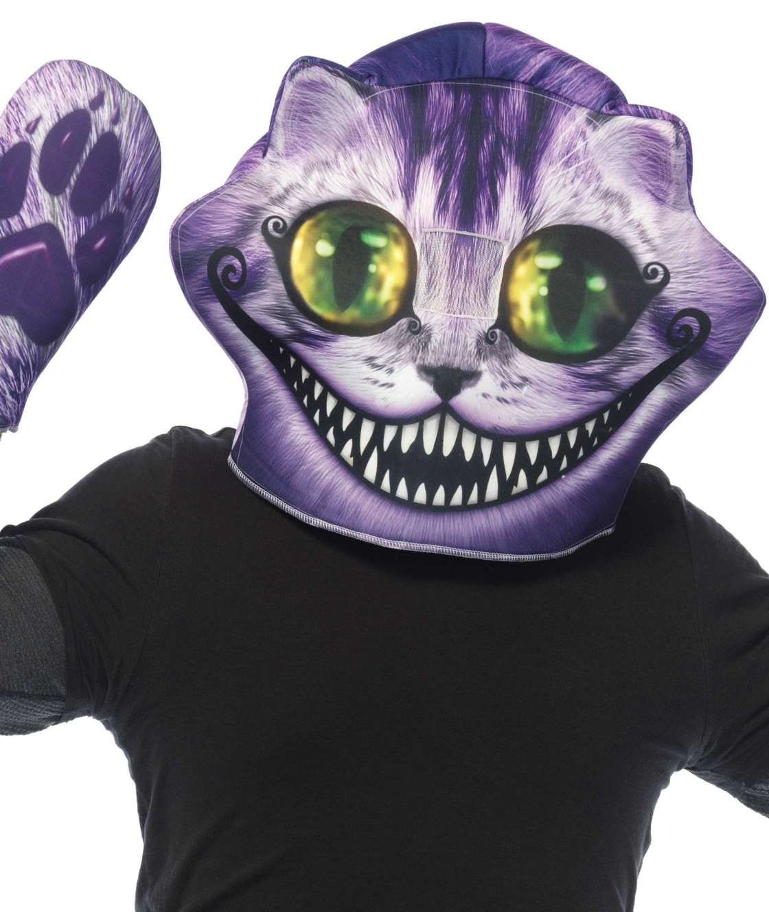 Cheshire Cat Foam Mask and Paw Gloves
